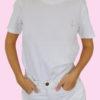 le t-shirt blanc porté - femme