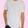 le t-shirt blanc porté - homme