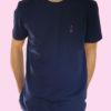 le t-shirt navy porté - homme